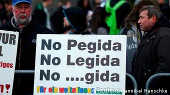 Anti Legida und Pegida Demonstration in Leipzig 21.01.2015