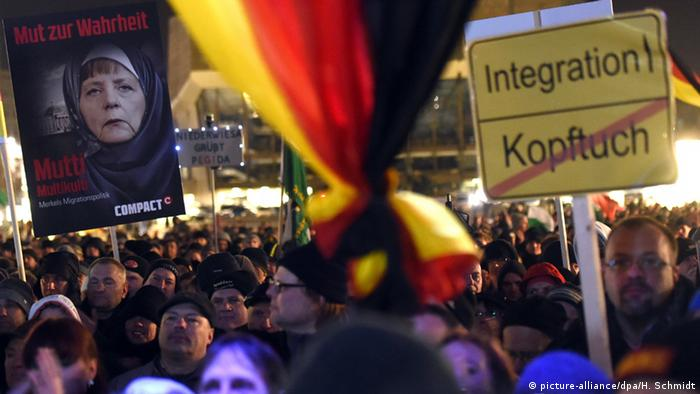 Legida Demonstration in Leipzig 21.01.2015