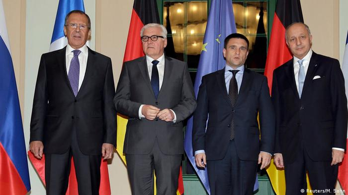 German Foreign Minister Steinmeier with his counterparts from France, Russia and Ukraine