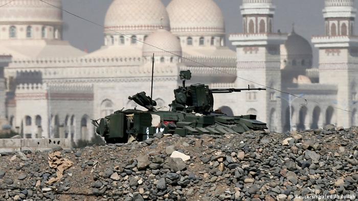 Jemen Präsidentenpalast Panzer Ruine 21.01.2015