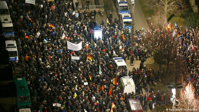 Legida-Demonstration am 21. Januar in Leipzig (Foto: Reuters)