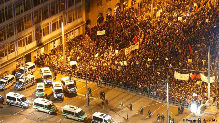 Leipzig Protest gegen Legida 21.01.2015