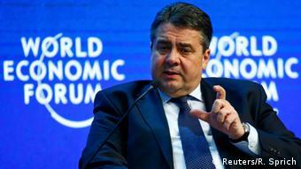 Sigmar Gabriel in Davos