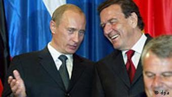 Putin und Schröder, Gasprom