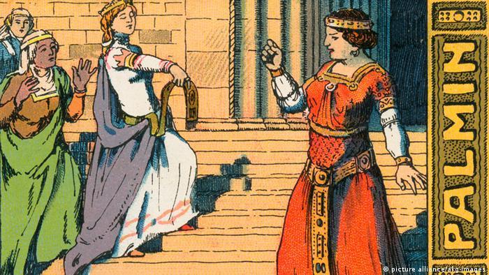 Спор королев на рисунке 1910 года