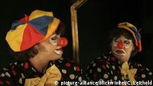 Clown Spiegelbild