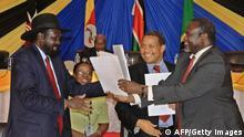 Salva Kiir und Riek Machar unterzeichnen Abkommen
