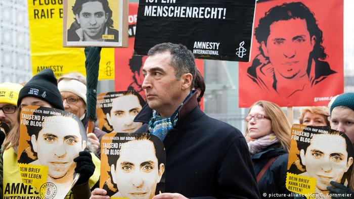 Berlin Cem Özdemir Demo gegen die Auspeitschung Raif Badawi 22.01.2015