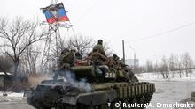 Ostukraine Separatisten Vormarsch Panzer 22.01.2015
