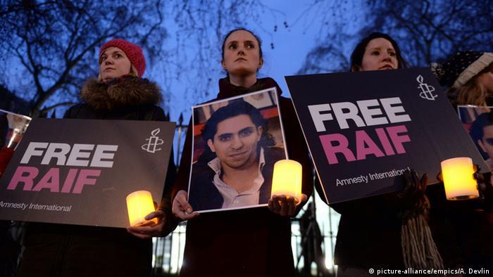 London Demo gegen die Auspeitschung des Bloggers Raif Badawi 22.01.2015
