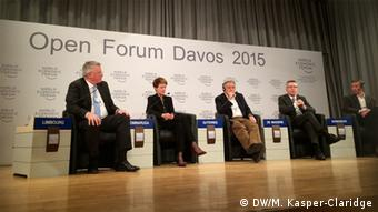 Open Boarders DW Intendant Limbourg Moderator in Davos 22.01.2015