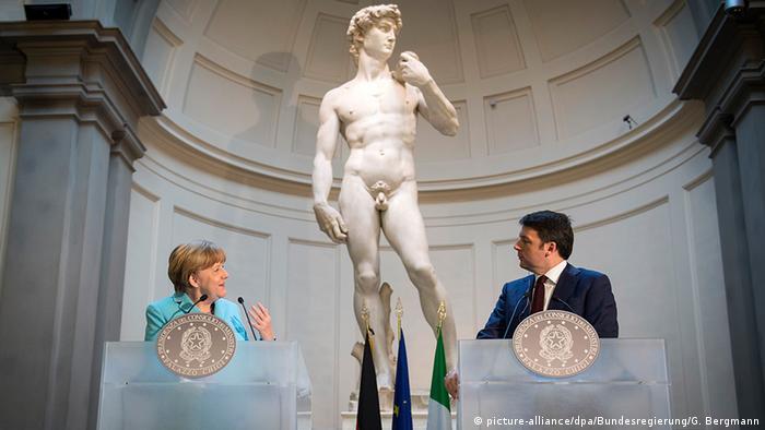 Merkel, Renzi, David
