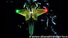 US Kampfjets fliegen Angriffe gegen IS in Syrien Archiv August 2014