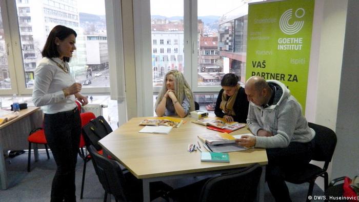 Polaznici kursa njemačkoj jezika u Goethe institutu u Sarajevu