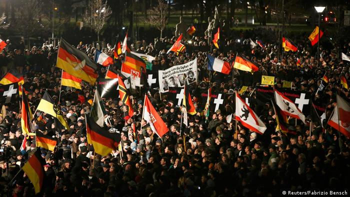 PEGIDA Demonstration in Dresden 12.01.2015