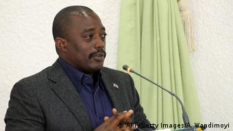 DRC President Joseph Kabila addresses a gathering