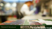 An Ebola trials notebook is seen in a laboratory during trials for an Ebola vaccine at The Jenner Institute in Oxford, southern England January 16, 2015. Photograph taken January 16, 2015. REUTERS/Eddie Keogh (BRITAIN - Tags: SCIENCE TECHNOLOGY HEALTH)