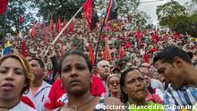 Venezuela Anhänger von Hugo Chavez