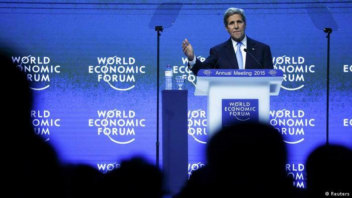 US-Außenminister John Kerry beim Weltwirtschaftsforum in Davos (Foto: Reuters)