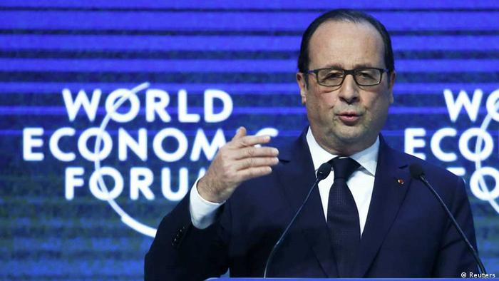 Frankreichs Präsident Francois Hollande beim Weltwirtschaftsforum in Davos (Foto: Reuters)