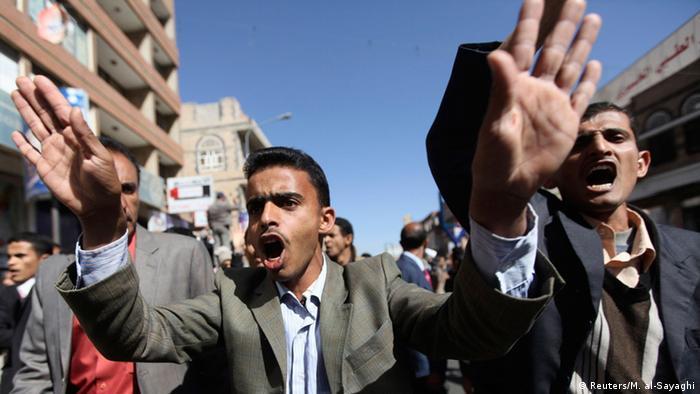Jemen Protest gegen Huthi-Rebellen 24.01.2015