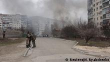 Beschuss von Mariupol in der Ostukraine 24.01.2015