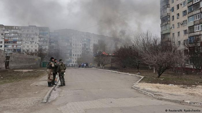 A residential sector in Mariupol, eastern Ukraine, January 24, 2015
