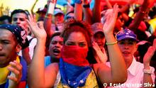 Proteste von Regierungsgegnern in Venezuela
