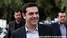 Alexis Tsipras Treffen mit Journalisten 24.01.2015 Athen