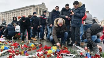 Ukraine Gedenken an Opfer in Mariupol in Kiew 25.01.2015