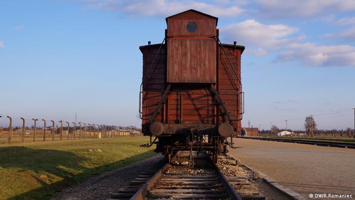 Railcar in Auschwitz-Birkenau camp
