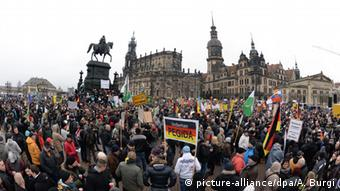 Pegida-Demonstration in Dresden (Foto: dpa)