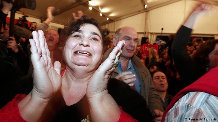 Griechenland Wahlen 2015 Jubel bei Syriza