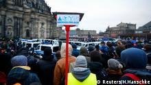 PEGIDA Gegen-Demonstration in Dresden 25.01.2015