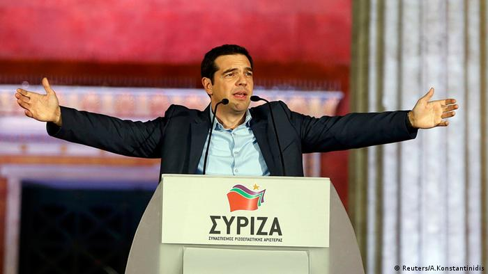Griechenland Wahlen 2015 Jubel bei Syriza Alexis Tsipras (Reuters/A.Konstantinidis)