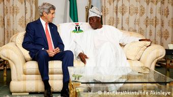John Kerry meets Goodluck Jonathan