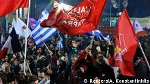Syriza Unterstützer Feier 25.01.2015 Athen