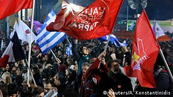 Syriza supporters after the January election (Photo: REUTERS/Alkis Konstantinidis)
