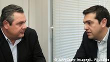 Die neue Koalition steht: Tsipras und Kamennos 26.01.2015 Athen