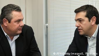 Tsipras und Stellvertreter Panos Kammenos Foto: AFP/Getty Images/L. Pitarakis