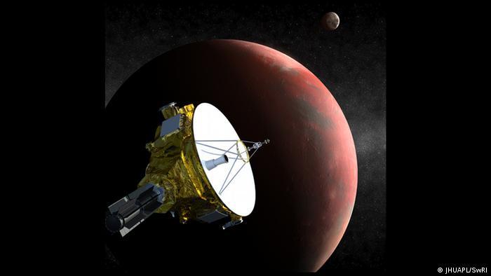 Pluto New Horizons Illustration