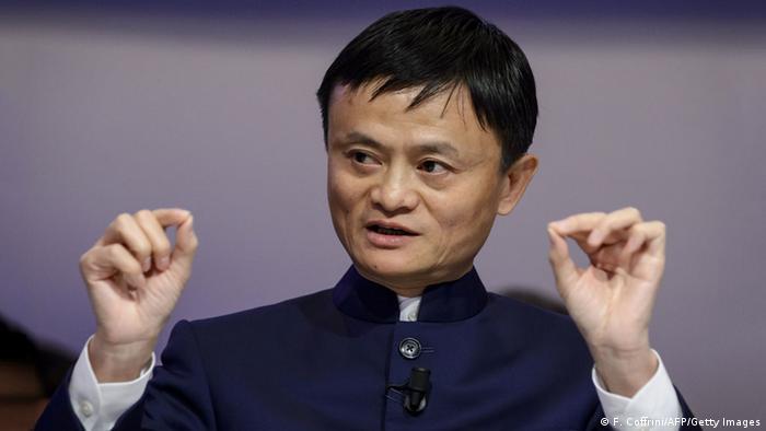Jack Ma / Ma Yun Auftritt beim WEF in Davos 23.01.2015 (F. Coffrini/AFP/Getty Images)