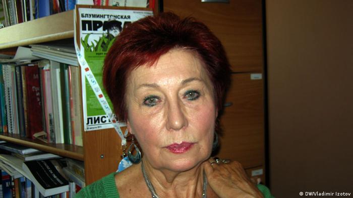 St. Petersburg Ella Polyakovak Soldatenmütter von St. Petersburg 26.01.2015 (Foto:DW/Vladimir Izotov)