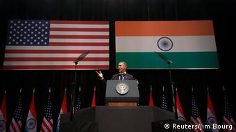 Obama with flags