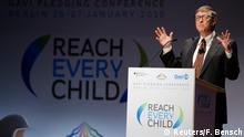 Bill Gates bei der GAVI Konferenz in Berlin 27.01.2015