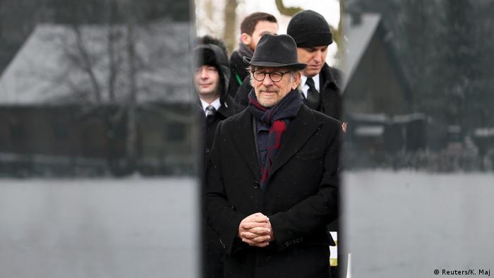 US director Steven Spielberg (Schindler's List) visited Auschwitz on Holocaust Memorial Day in 2015