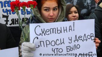 Holocaust Gedenkfeier 27.01.2015 Protest in Moskau