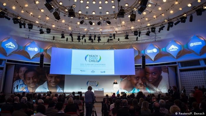Plenum der Konferenz der Globalen Impfallianz Gavi in Berlin am 27.01.2015 (Foto: Reuters)