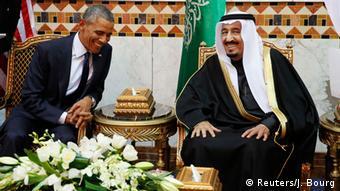 Президент США Обама и король Саудовской Аравии Салман в январе 2015 года в Эр-Риаде