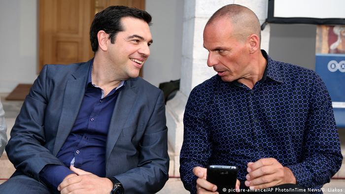 Tsipras mit Giannis Varoufakis Archiv 2014